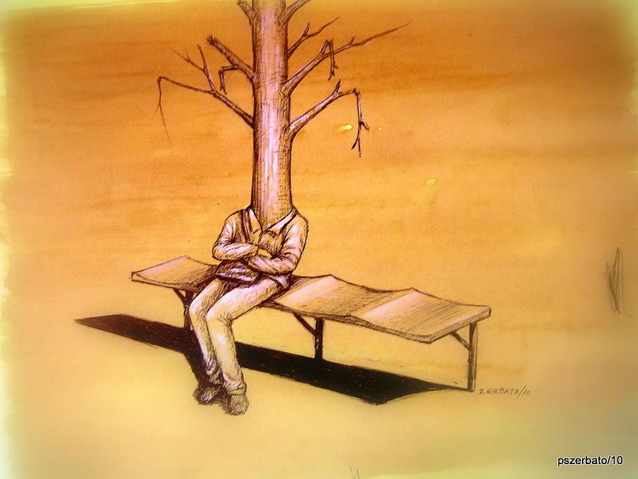 Humans Digital Art - Series Trees Drought 4 by Paulo Zerbato