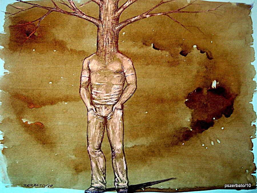 Humans Digital Art - Series Trees Drought by Paulo Zerbato