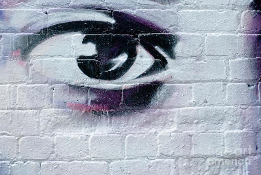 Serious Graffiti Eye On The Wall By Yurix Sardinelly