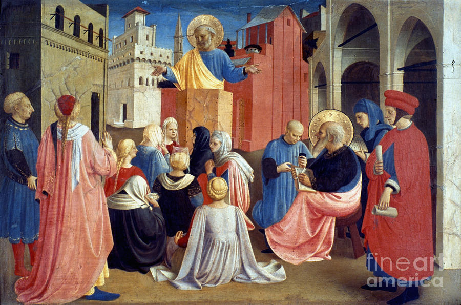 Aod Painting - Sermon Of St Peter by Granger