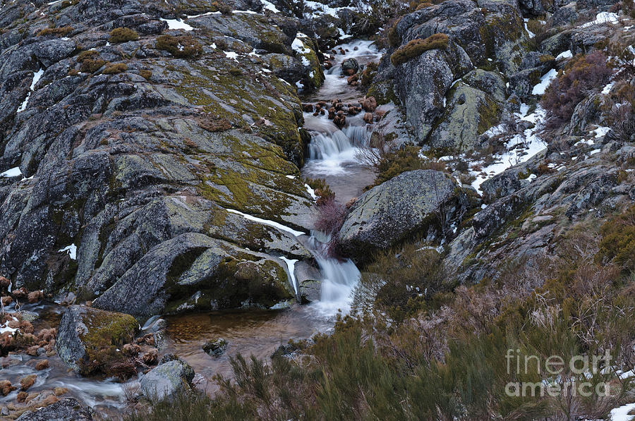 Serra Da Estrela Photograph - Serra Da Estrela Mountains And Waterfall by Angelo DeVal