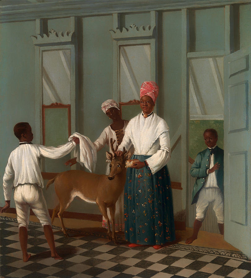Painting Painting - Servants Washing A Deer by Mountain Dreams