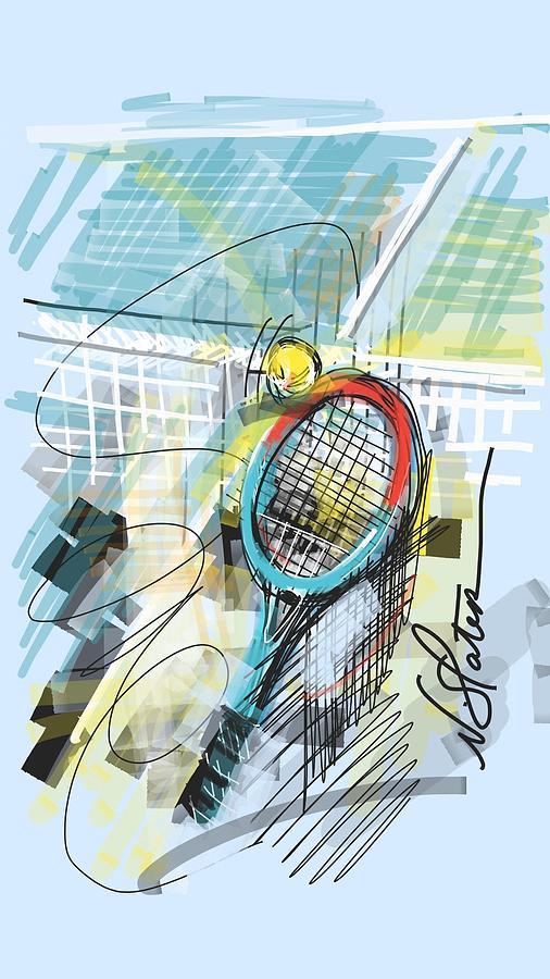 Tennis Digital Art - Serve by Nicole Slater