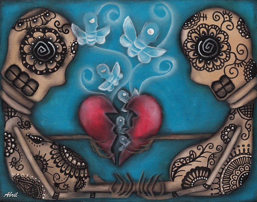 Heart Painting - Set Them Free by  Abril Andrade Griffith