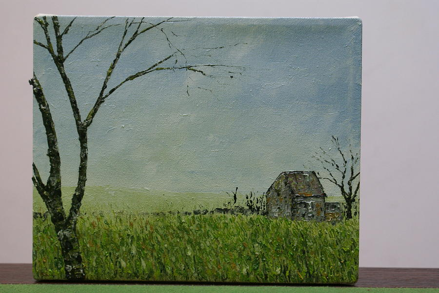 Landscape Painting - Set Well Back From The Road by Pauline Byrne