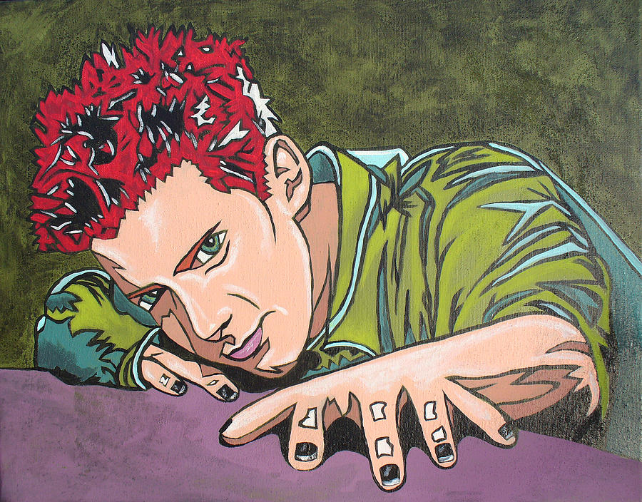 Comic Book Style Painting - Seth Is Green by Sarah Crumpler