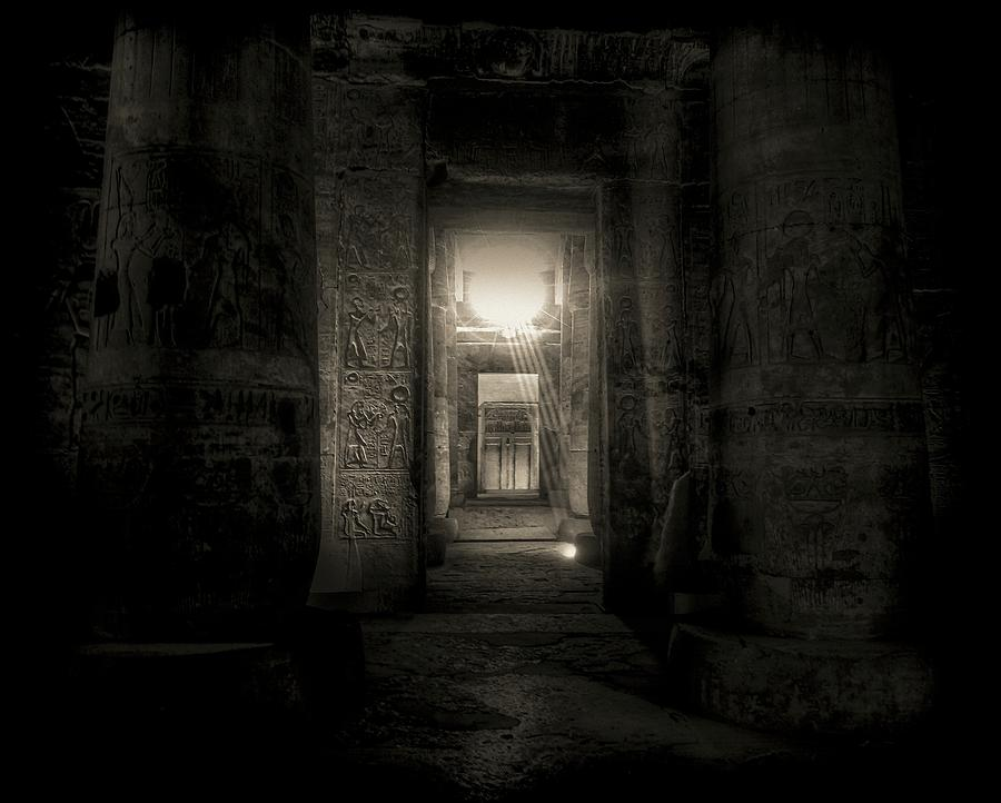 Abydos Photograph - Seti I Temple Abydos by Nigel Fletcher-Jones