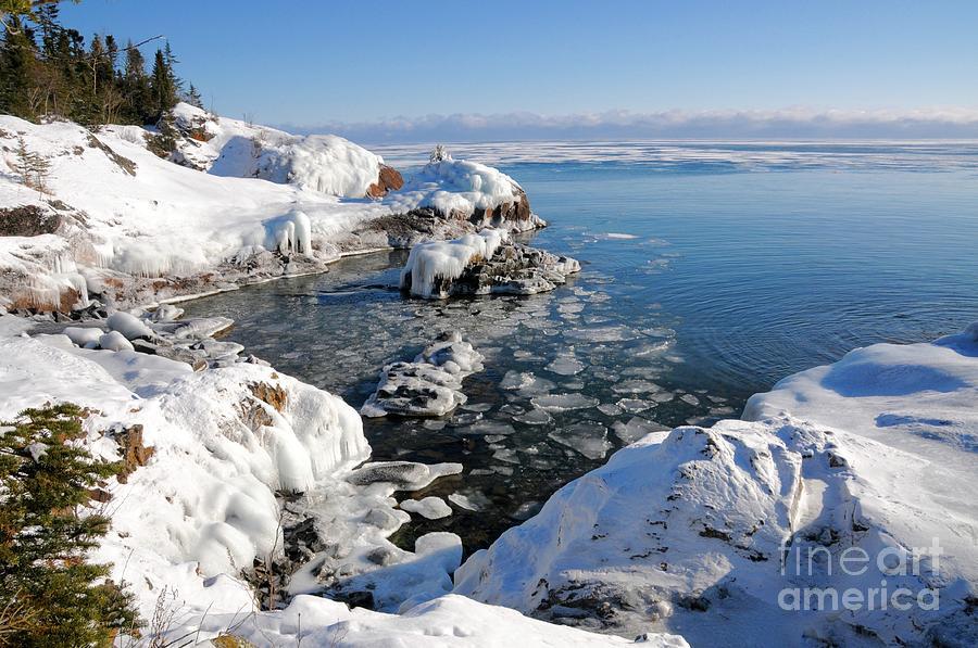 Pancake Ice Photograph - Setting Ice On Superior by Sandra Updyke