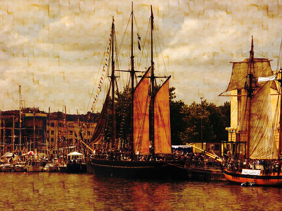 Tall Ships Photograph - Setting Sail From Bristol by Brian Roscorla