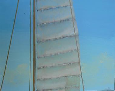 Sail Painting - Setting Sail by Michael Palmer