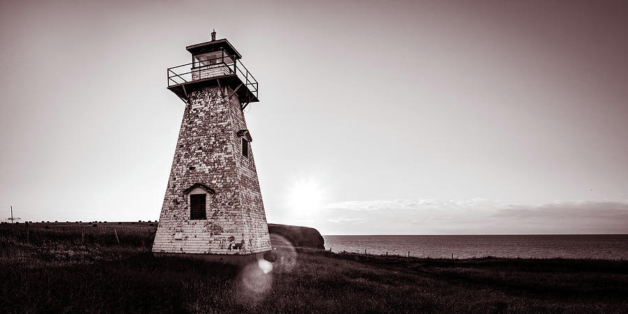 Setting Sun at Cape Tryon Lighthouse by Chris Bordeleau