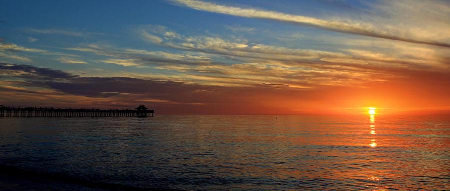Setting Sun In Naples Photograph