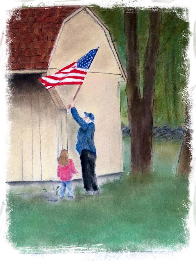 setting up the flag by Barbara Gulotta