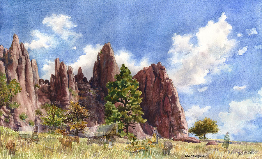 Settlers Park, Boulder, Colorado Painting by Anne Gifford