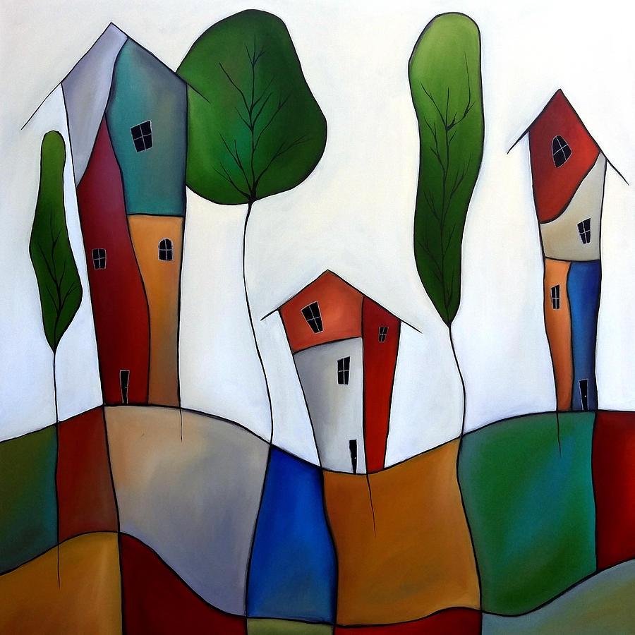 Settling Down Painting By Tom Fedro Fidostudio