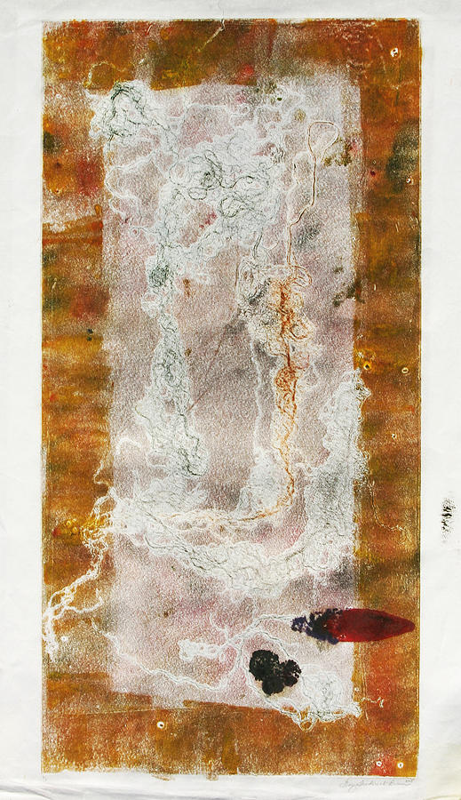 Abstract Painting - Settling  by Gary Frederick Brown