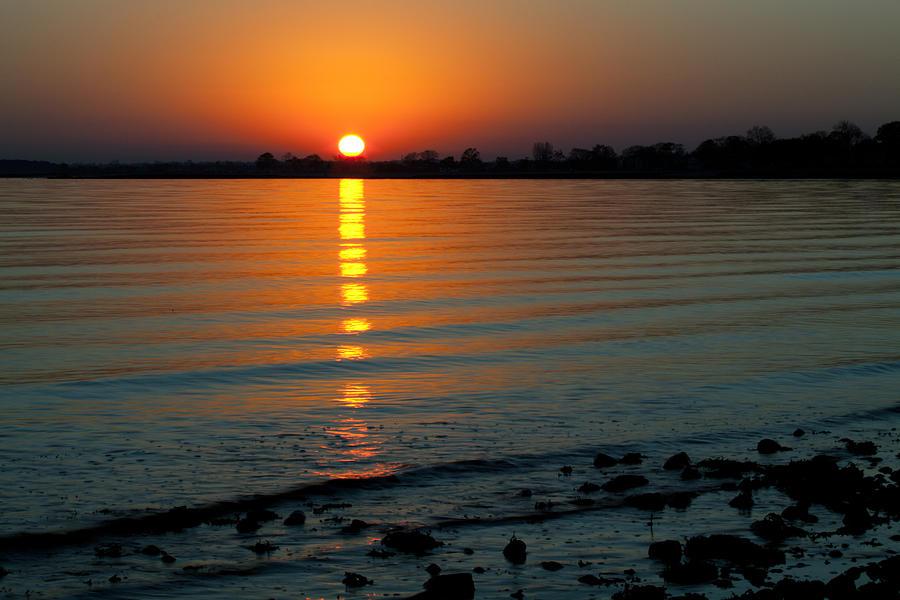 Sunset Photograph - Settling Sun by Karol Livote