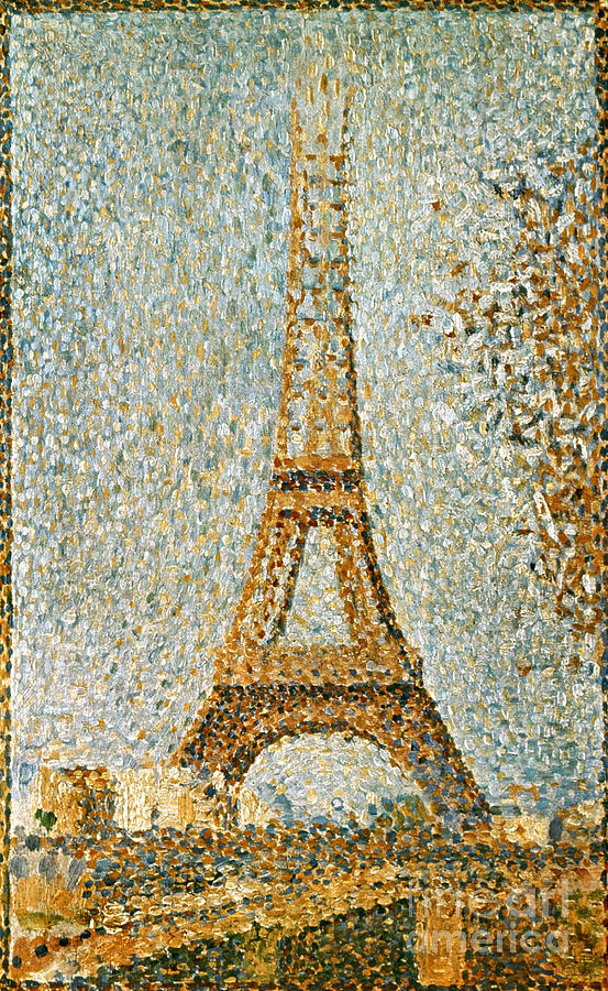 Seurat Eiffel Tower 1889 Photograph By Granger