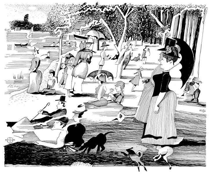 Leisure Print - Seurat Sunday Afternoon Revisited by Gary Peterson