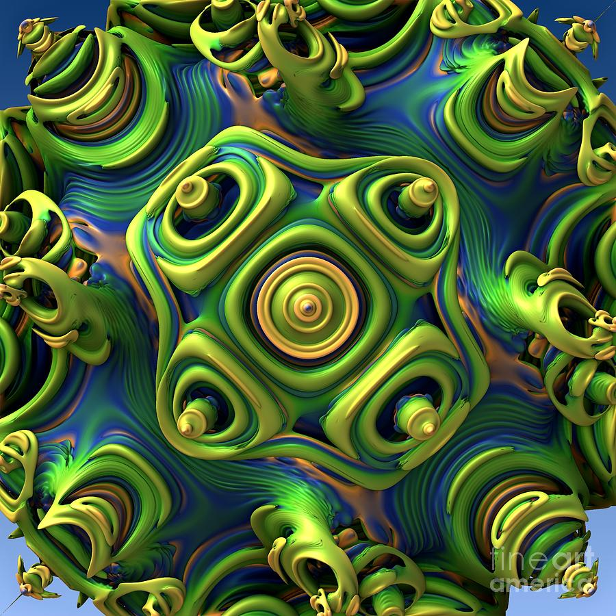 Mandelbulb Digital Art - Seusss Legacy by Lyle Hatch