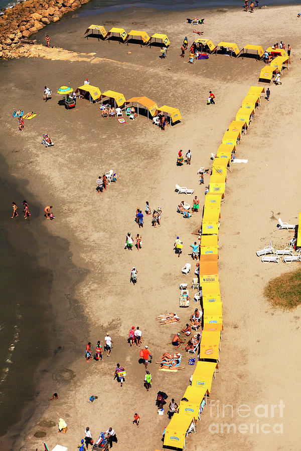 Beach Photograph - Seven At Bocagrande by John Rizzuto