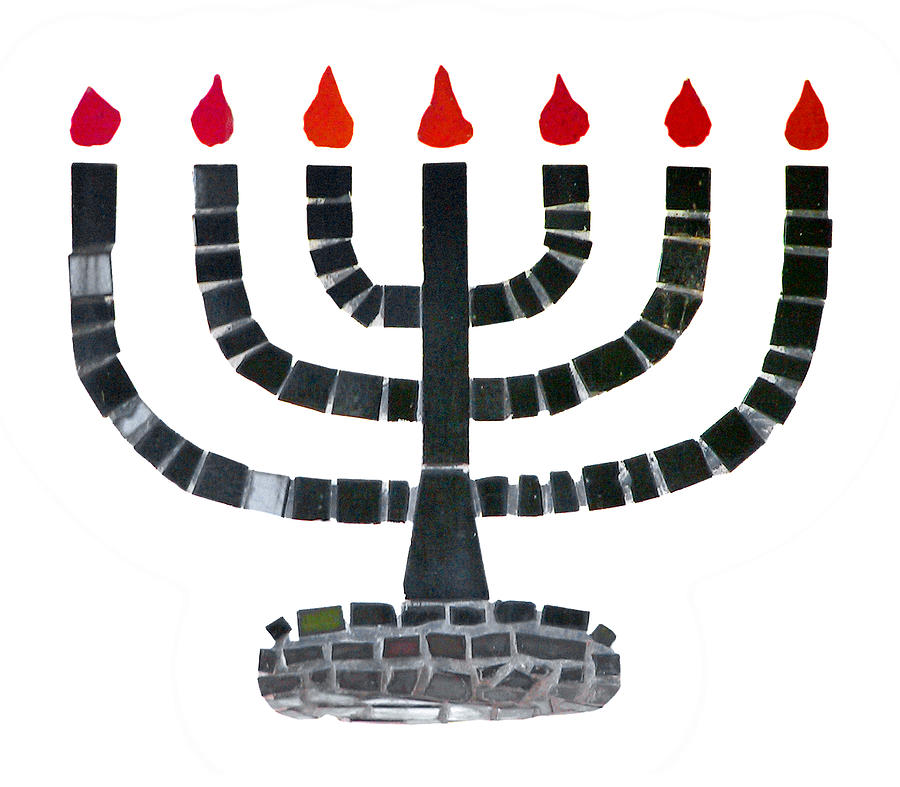 Menorah Photograph - Seven-branched Temple Menorah by Christine Till