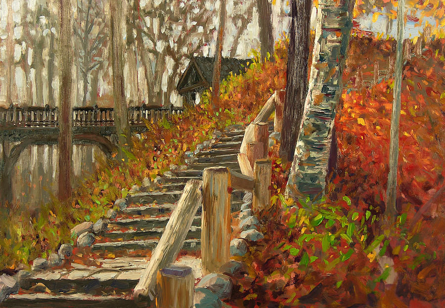Plein Air Painting - Seven Bridges by Anthony Sell