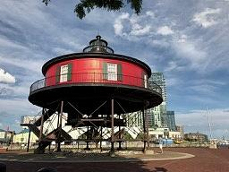 Seven Foot Knoll Lighthouse in Baltimore by Kenlynn Schroeder