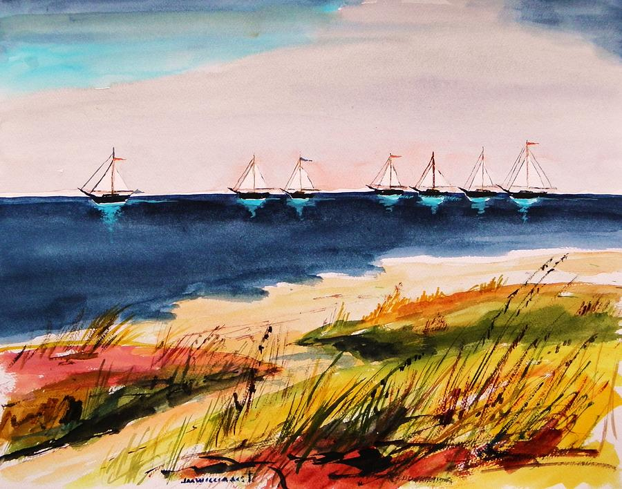 Sail Painting - Seven Heading Out by John Williams