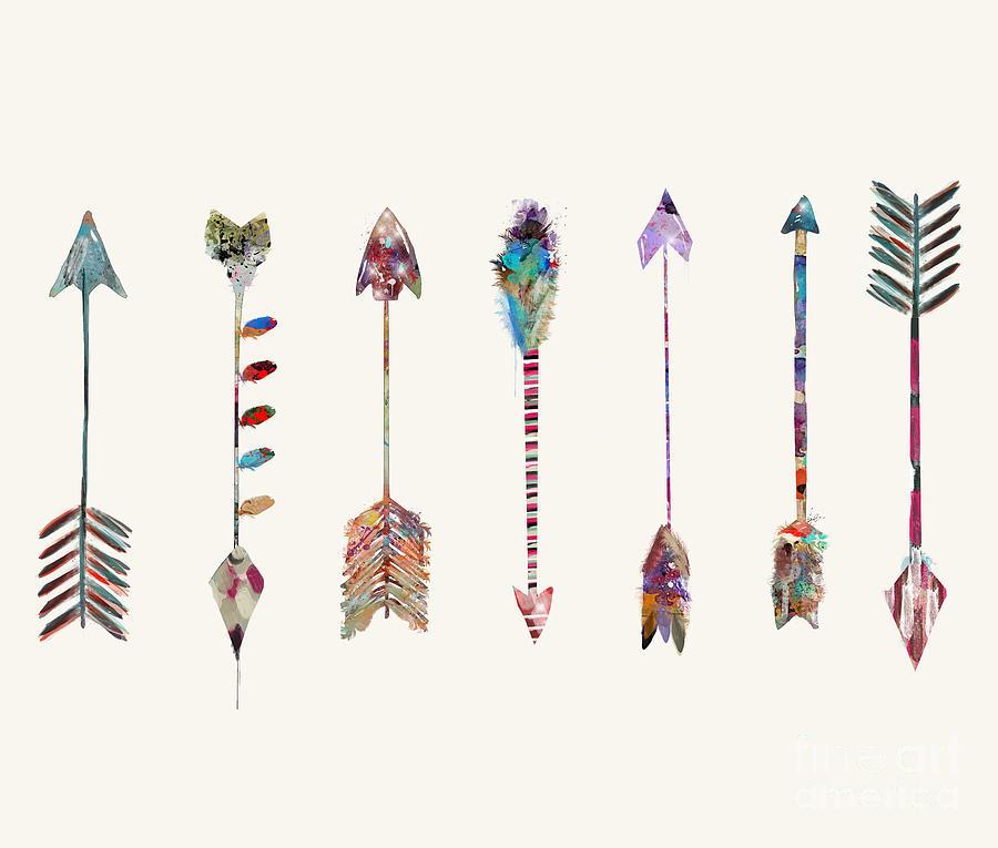 Arrows Painting - Seven Little Arrows by Bri Buckley