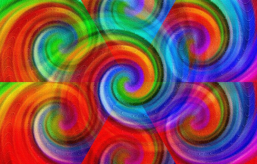 Seven Rainbow Swirls H B Painting