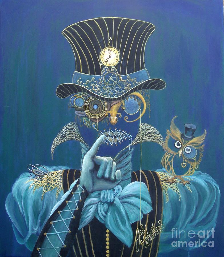 Owl Painting - Seven Sharp by Shauna Eggleston