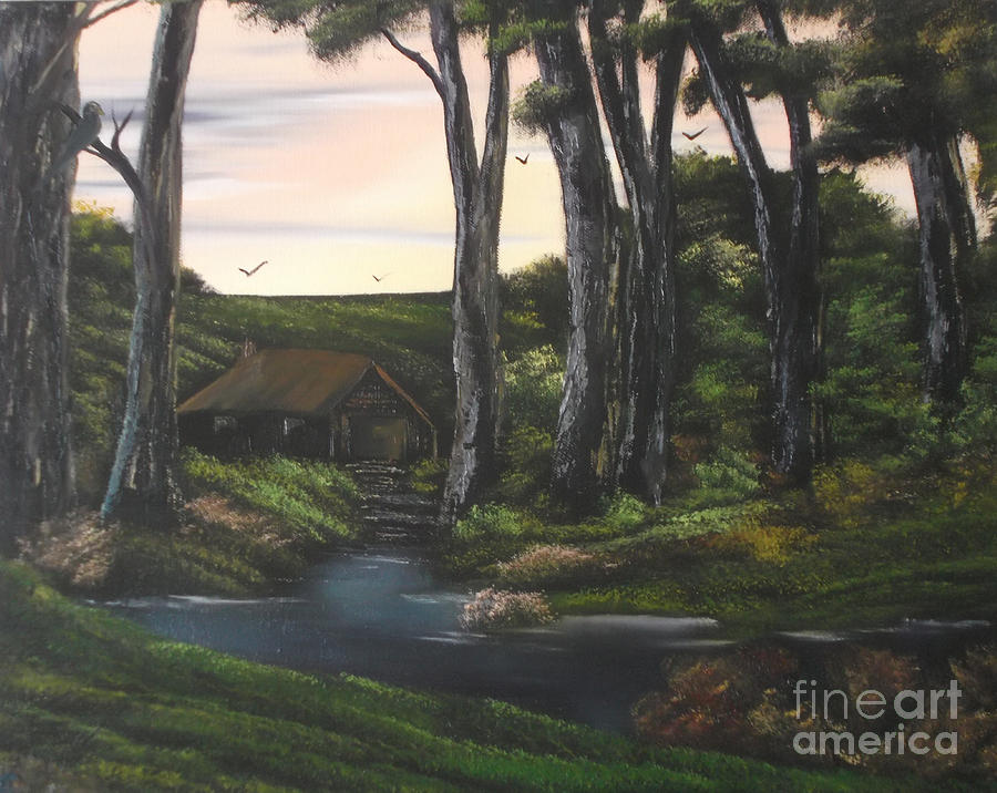 Reworked Painting - Seven Sisters Secret Retreat by Cynthia Adams