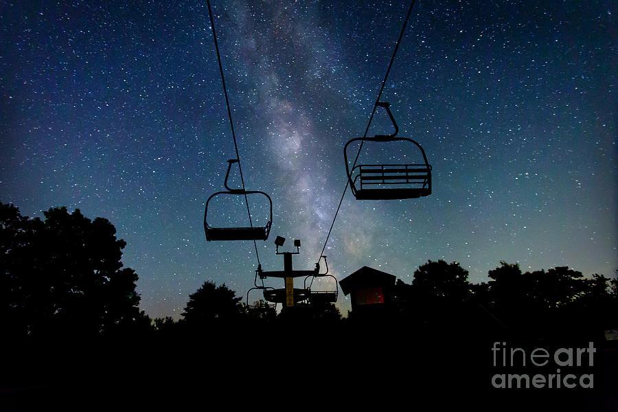 Milky Way Photograph - Seven Springs Milky Way by Brenda Schwartz