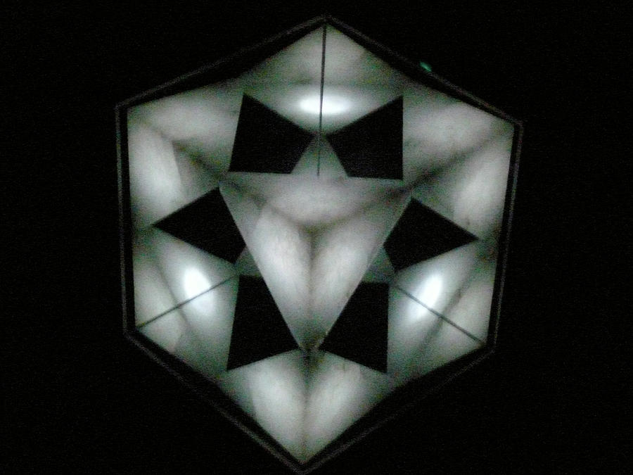 Sacred Geometry Sculpture - Seventh Chakra Sahasrara Crown Top View by Frank Pasquill