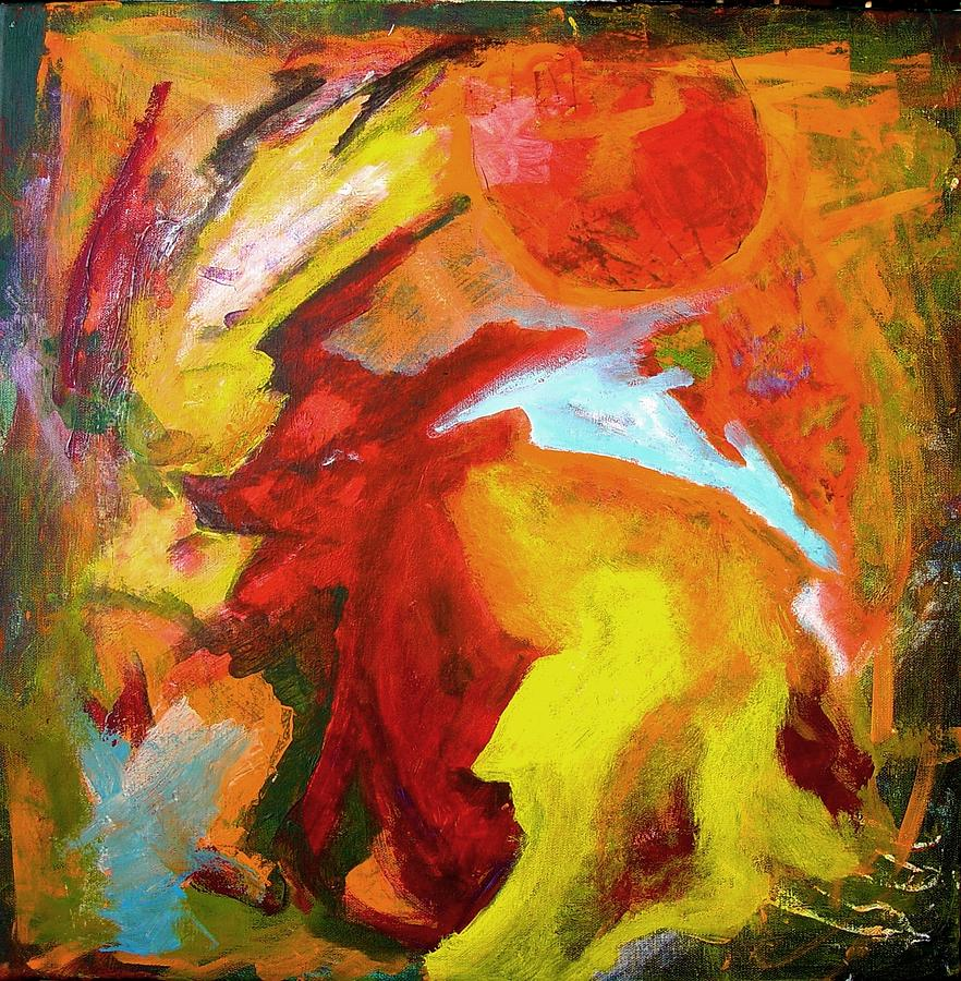 Romulus Painting - Seventh Circle by Bebe Brookman