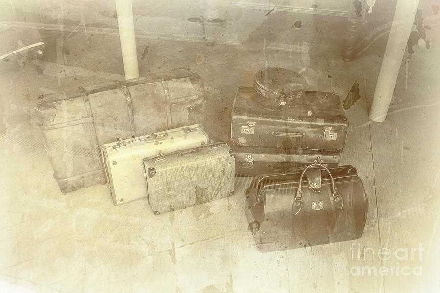 Luggage Photograph - Several Vintage Bags On Floor by Jorgo Photography - Wall Art Gallery