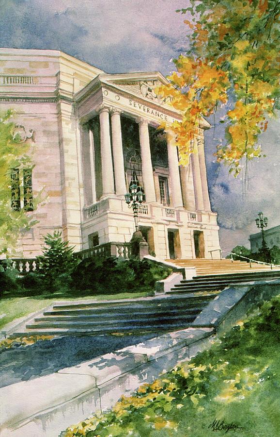 Severance Hall Painting - Severance Hall by Maryann Boysen
