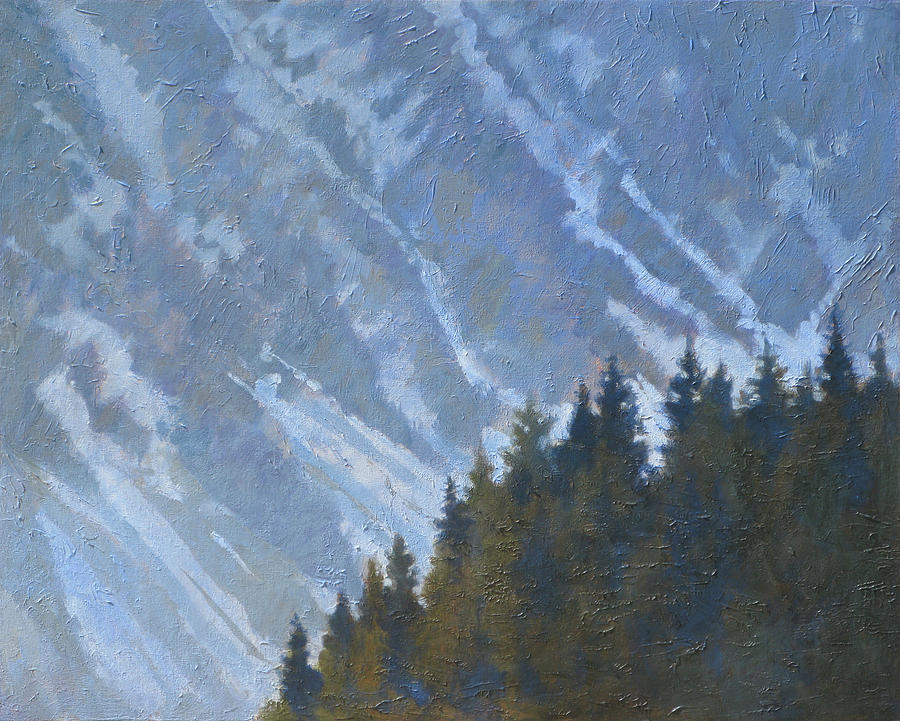 Tree Painting - Seward Mountain by Robert Bissett