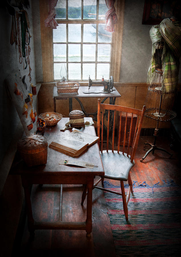 Hdr Photograph - Sewing - I Dream About The Ocean  by Mike Savad