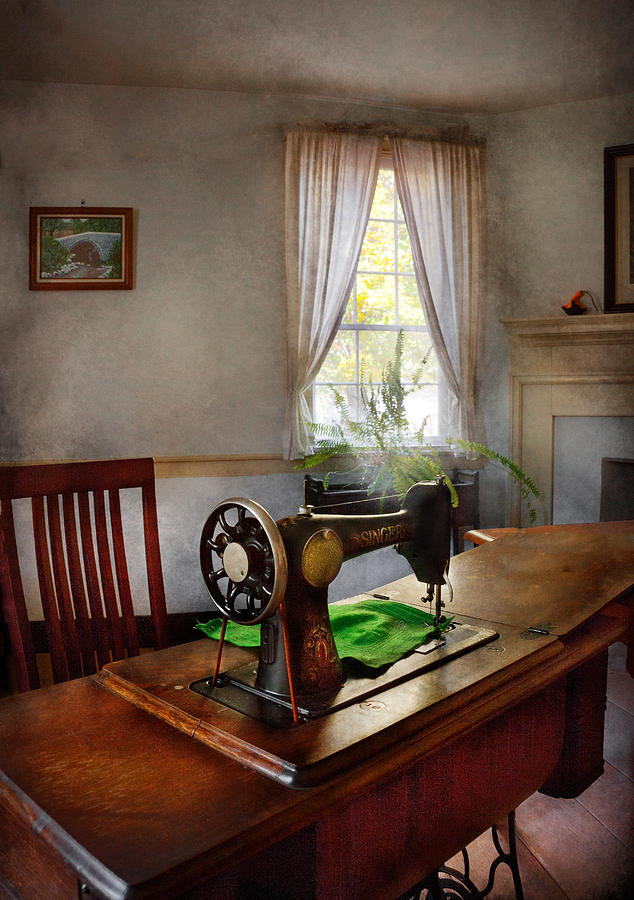 Hdr Photograph - Sewing - My Sewing Room  by Mike Savad