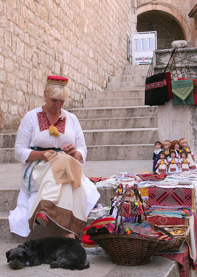 Sewing Souvenirs in Old Dubrovnik by Laurel Talabere