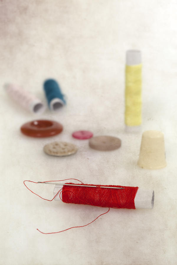 Needle Photograph - Sewing Supplies by Joana Kruse