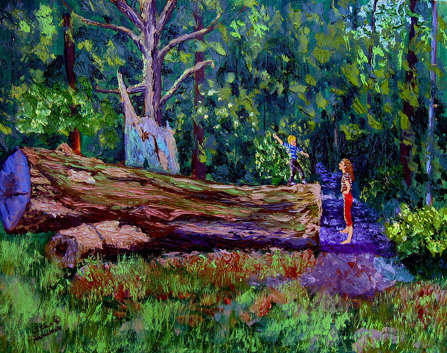 Woods Painting - Sewp 6 21 by Stan Hamilton