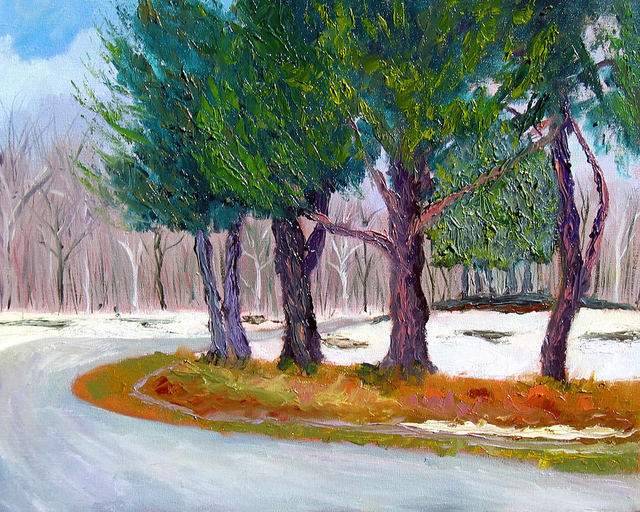 Landscape Painting - Sewp Spring Thaw by Stan Hamilton