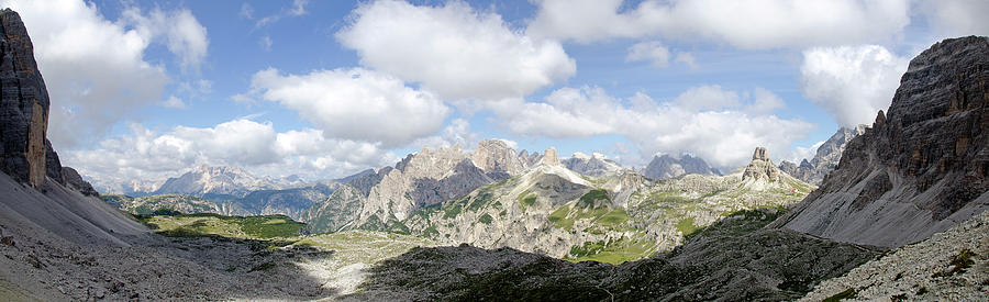 Panorama Photograph - Sextener Dolomites by Leopold Brix