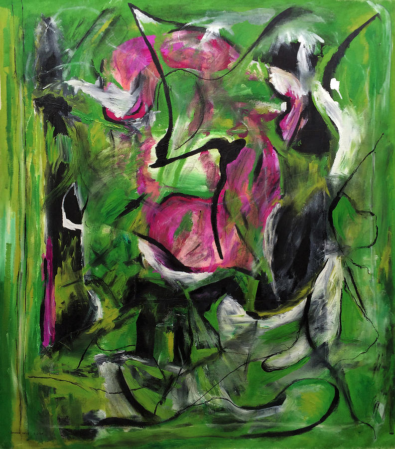 Abstract Expressionism Painting - Sexual Energy by Antonio Ortiz