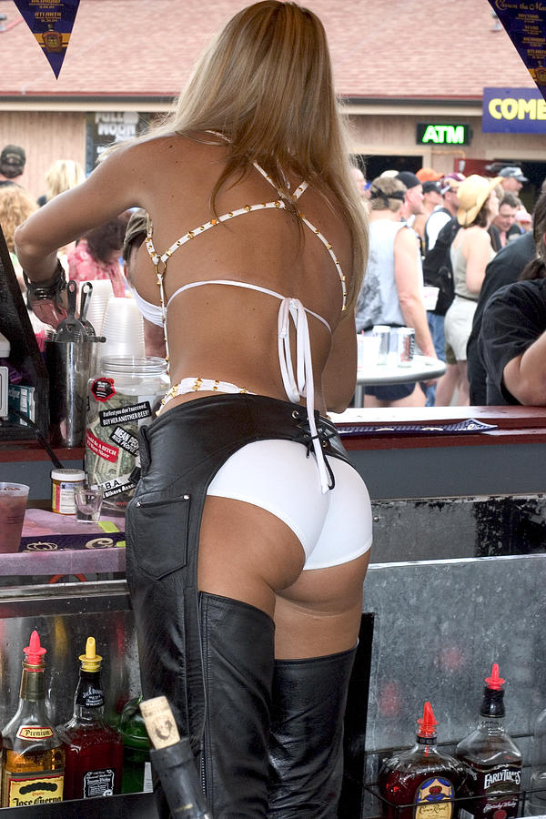 Sexy Female Bartender Photograph By Carl Purcell