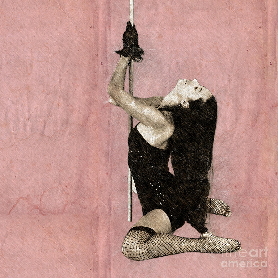 Sexy pole dancer z Photograph by Humorous Quotes