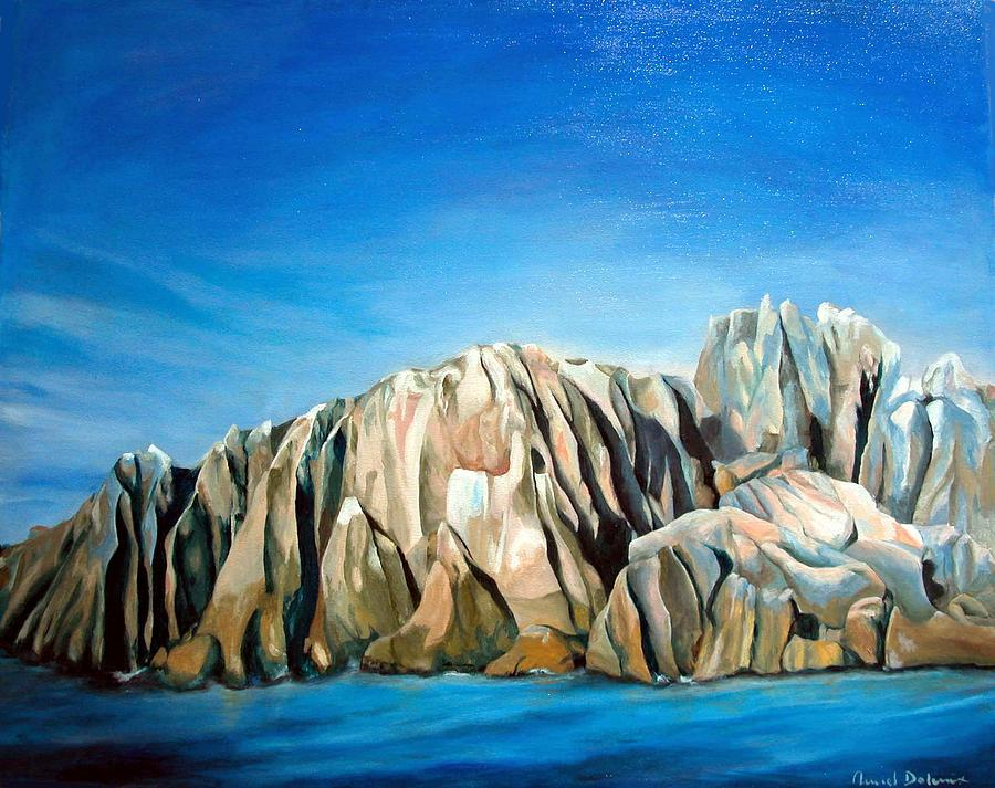 Paysage Painting - Seychelles by Muriel Dolemieux